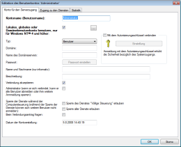 Neues Benutzerkonto einfügen. RAC – Remote Desktop, Fernwartung, Fernzugriff und Remote Support.