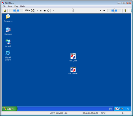Remote playing of a recording in internal player, done on a computer with Windows® operation system. RAC – Remote Desktop, Remote Access, Remote Support, Service Desk, Remote Administration.