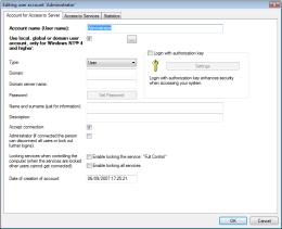Adding a new user account. RAC – Remote Desktop, Remote Access, Remote Support, Service Desk, Remote Administration.