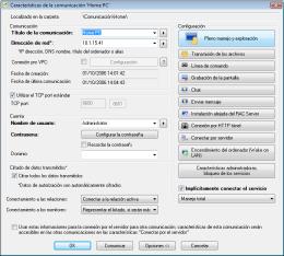 Características de la comunicación. RAC - Software para el control remoto del PC y de la administración alejada.