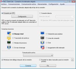 RAC Client Lite. RAC - Software para el control remoto del PC y de la administración alejada.