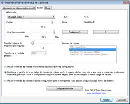 Grabación alejada - opción de videocodec. RAC - Software para el control remoto del PC y de la administración alejada.
