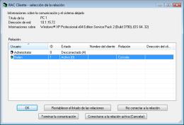 De la selección de las relaciones. RAC - Software para el control remoto del PC y de la administración alejada.